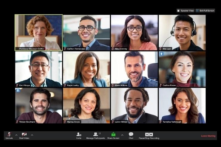 A virtual classroom on Zoom
