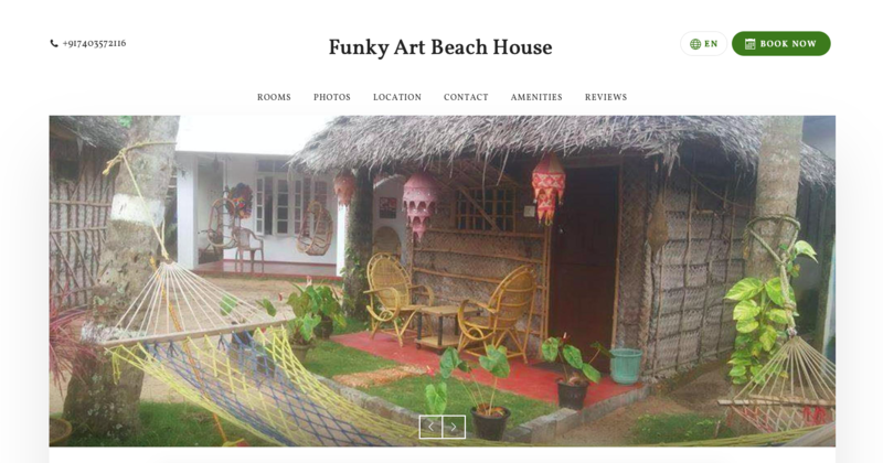 Funky art beach house