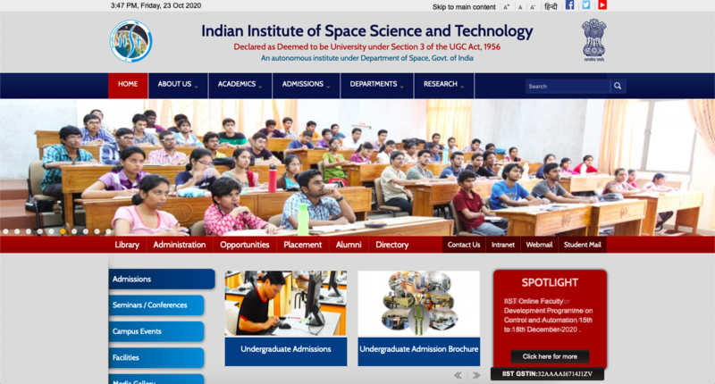 Indian Institute of Space Science and Technology, Thiruvananthapuram.
